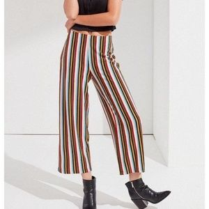 Urban Outfitters Striped Flare Pants Knit Loose L